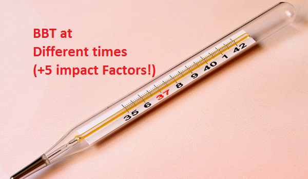 Basal body temperature during the day and in the evening
