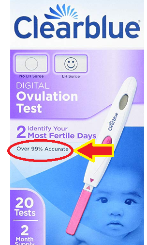 ClearBlue Ovulation Test Accuracy is 99%